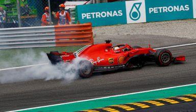 Vettel Ferrari Italian GP F1 2018 spin hi res