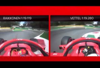 vettel raikkonen ferrari onboard pole position monza f1 2018