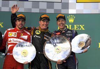 Alonso-Raikkonen-Vettel-Australian-GP-F1-2013-Photo-Ferrari