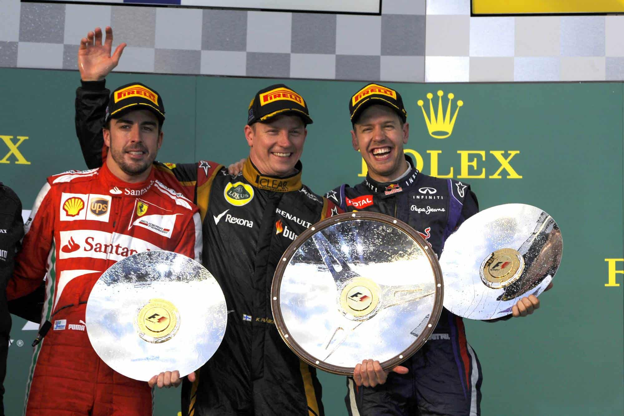Alonso-Raikkonen-Vettel-Australian-GP-F1-2013-Photo-Ferrari