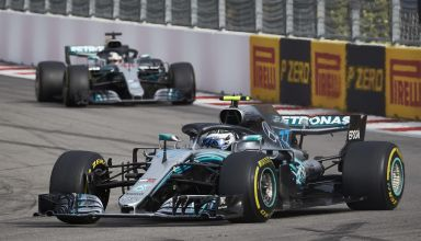 Bottas Hamilton Russian GP F1 2018 team orders race Bottas leads Photo Daimler