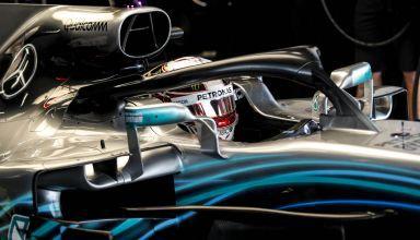 Hamilton Japanese GP F1 2018 Suzuka cockpit helmet Photo Daimler