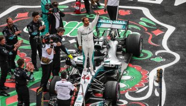Hamilton Mercedes Mexican GP F1 2018 fifth title celebration Photo Daimler