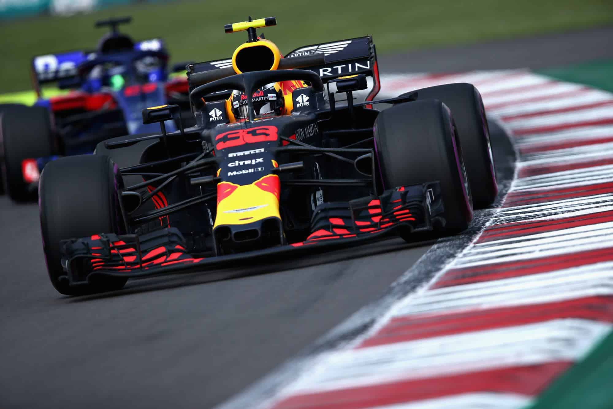 Max Verstappen Red Bull RB14 Mexican GP F1 2018 close Photo Red Bull