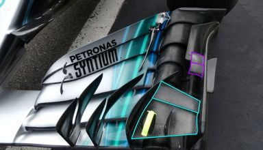 Mercedes W09 front wing new cascade GP F1 2018 Photo Mercedes