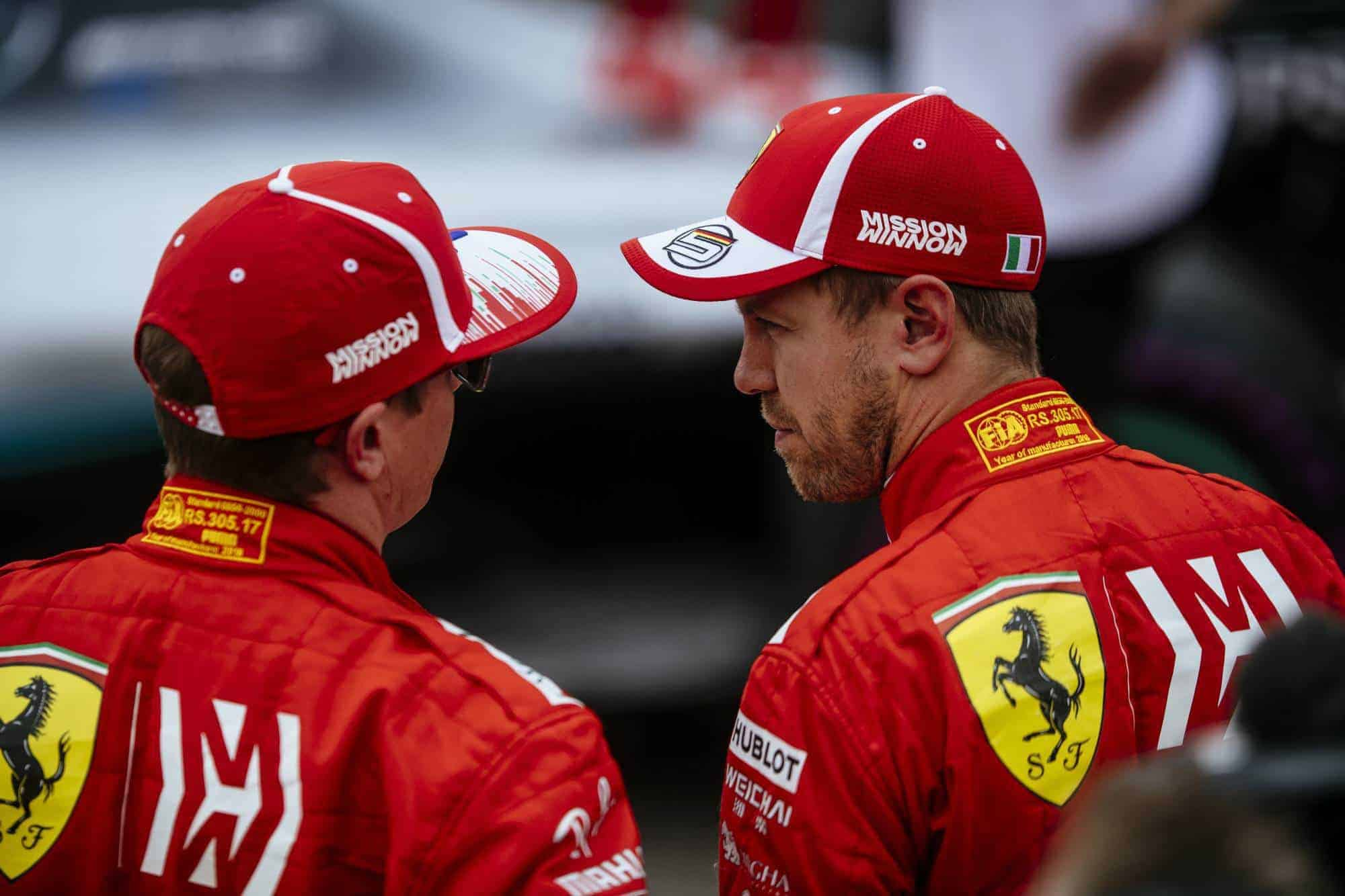 Raikkonen Vettel Ferrari USA GP F1 2018 Mission Winnow Photo Ferrari