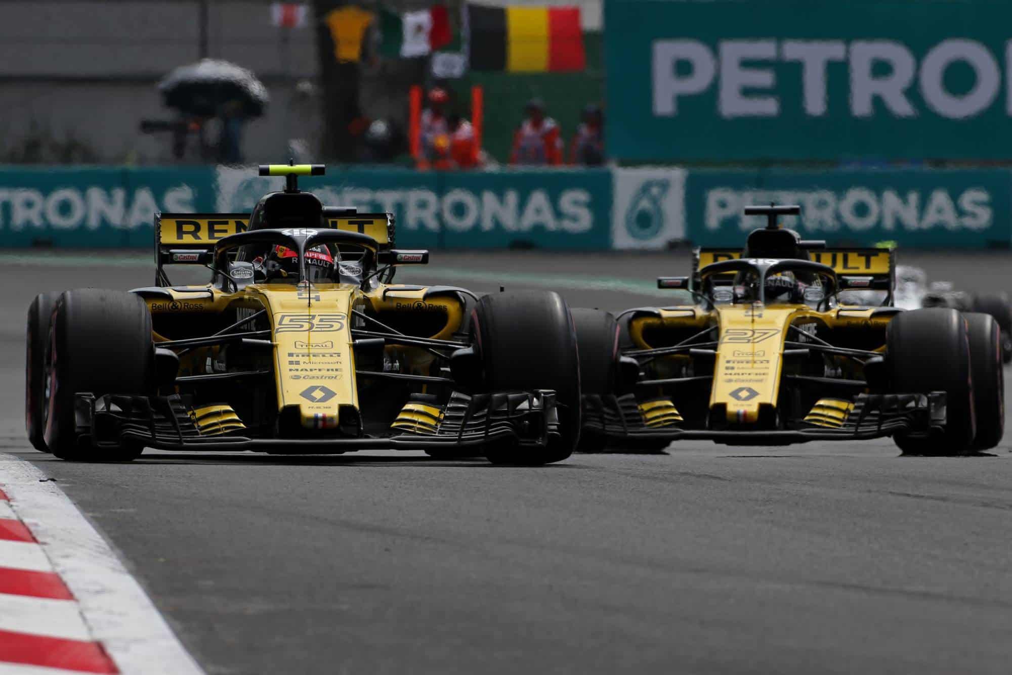 Sainz and Hulkenberg Renault RS18 Mexican GP F1 2018 Photo Renault