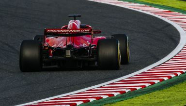 Sebastian Vettel Ferrari Japanese GP F1 2018 rear end 130R Photo Ferrari
