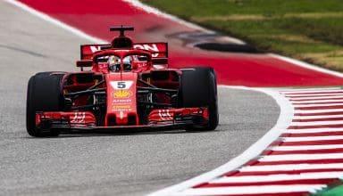 Sebastian Vettel Ferrari SF71H USA GP F1 2018 ultrasoft Photo Ferrari