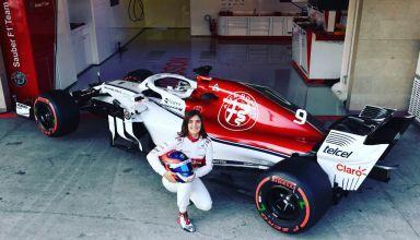 Tatiana Calderon Sauber Alfa Romeo C37 Mexico F1 test november 2018