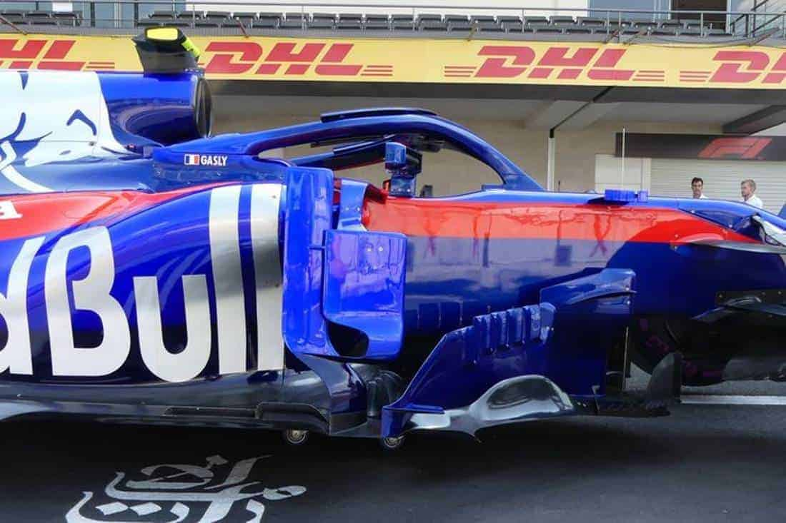 Toro Rosso STR13 Honda Mexican GP F1 2018 old sidepod deflectors side Photo Red Bull