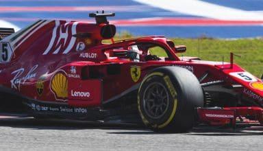Vettel Ferrari SF71H US GP F1 2018 soft Photo Ferrari