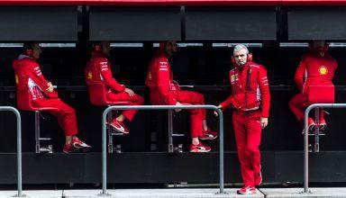 Arrivabene Ferrari F1 2018 pitwall Mexican GP F1 2018 Photo Ferrari