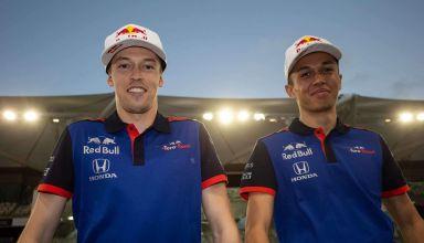 Daniil Kvyat and Alexander Albon Toro Rosso Honda F1 2018 Abu Dhabi test
