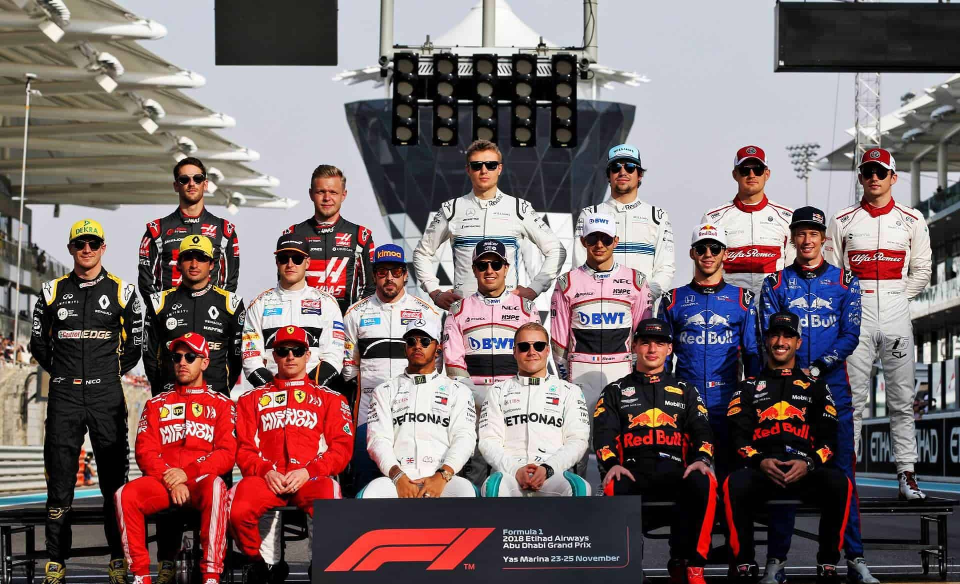 F1 drivers 2018 Abu Dhabi final GP of the season