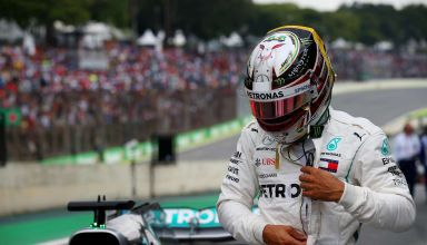 Hamilton Mercedes Brazilian GP F1 2018 helmet Photo Daimler