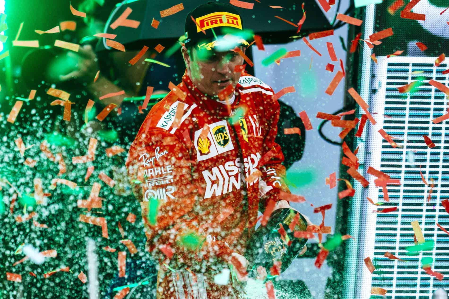 Kimi Raikkonen Mexican GP F1 2018 podium Photo Ferrari