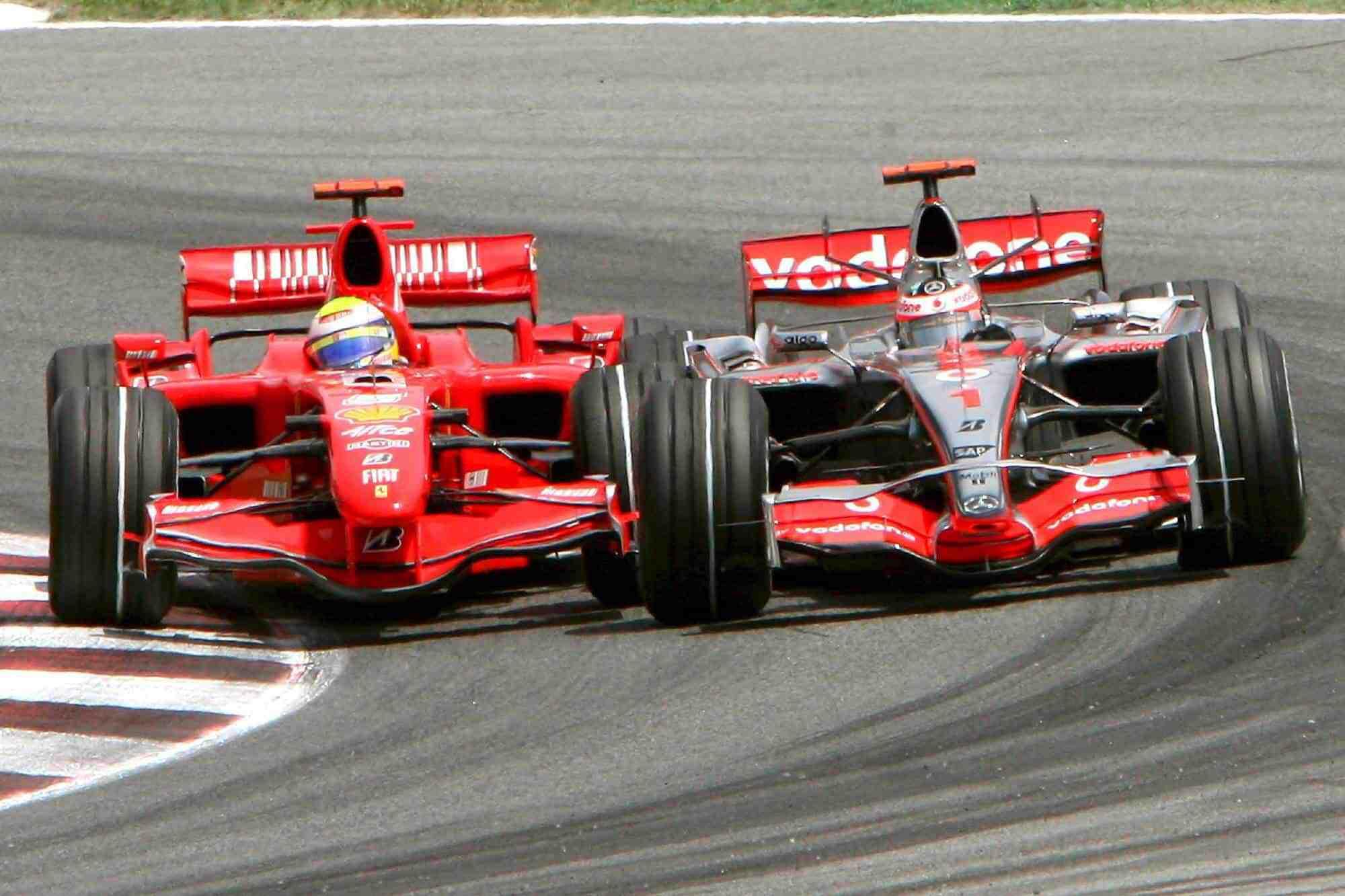Massa Alonso F1 2007 Spanish GP start Photo McLaren