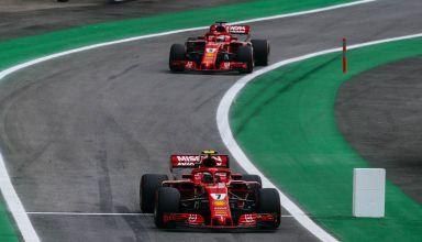 Raikkonen Vettel Ferrari Brazilian GP F1 2018 Photo Ferrari