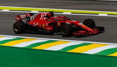 Vettel Ferrari SF71H Brazilian GP F1 2018 free practice 1 Photo Ferrari