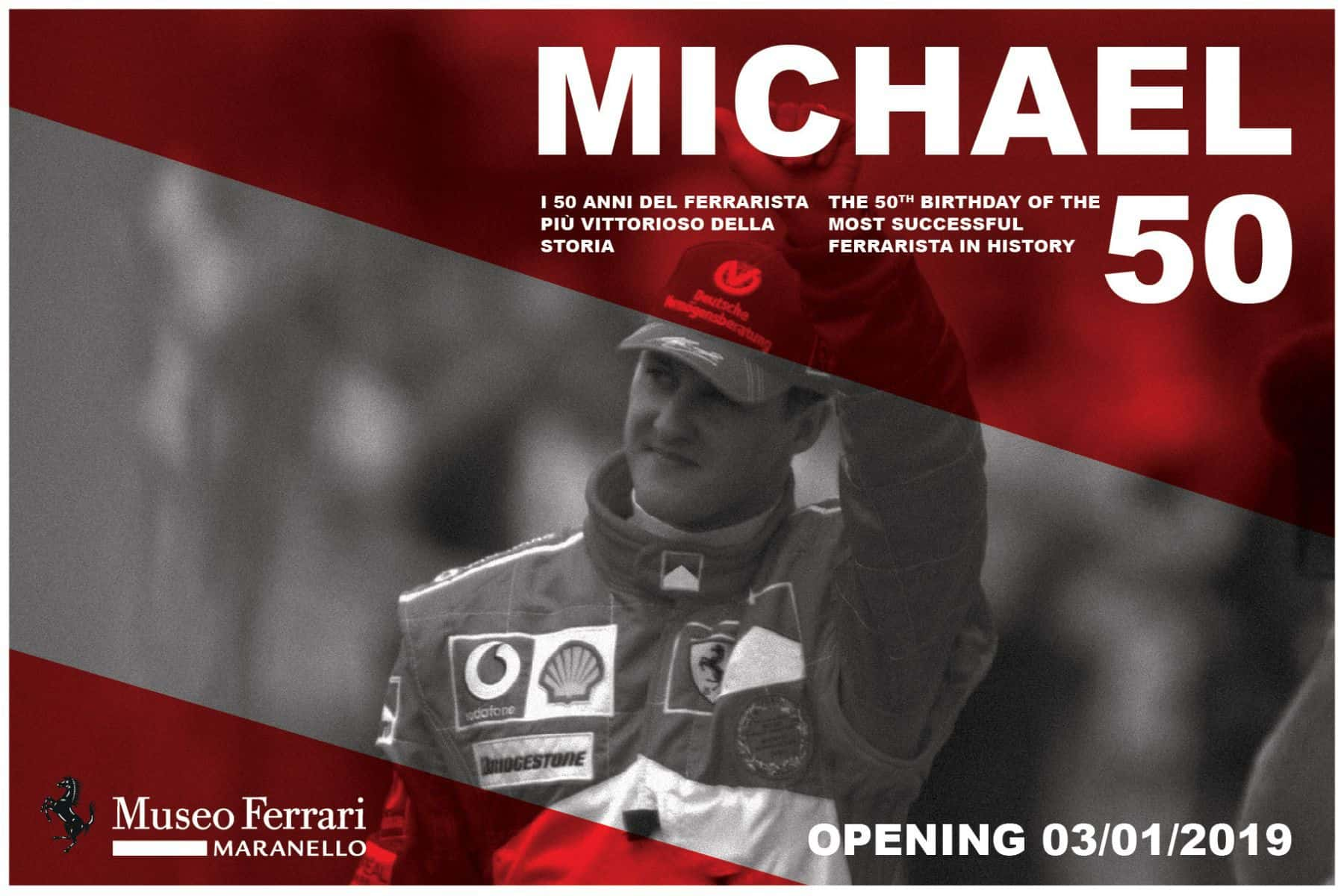 Michael Schumacher 50th birthday Maranello Ferrari F1 2019