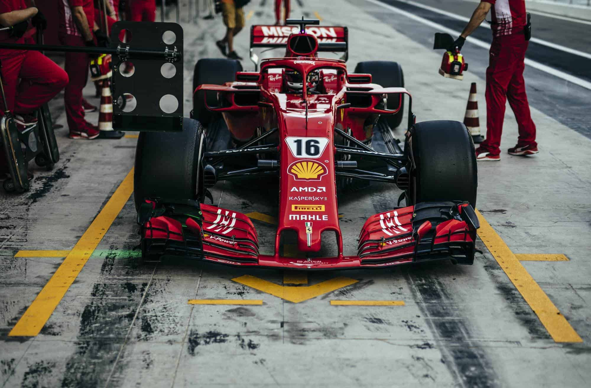 Charles Leclerc Abu Dhabi F1 2019 test Photo Ferrari