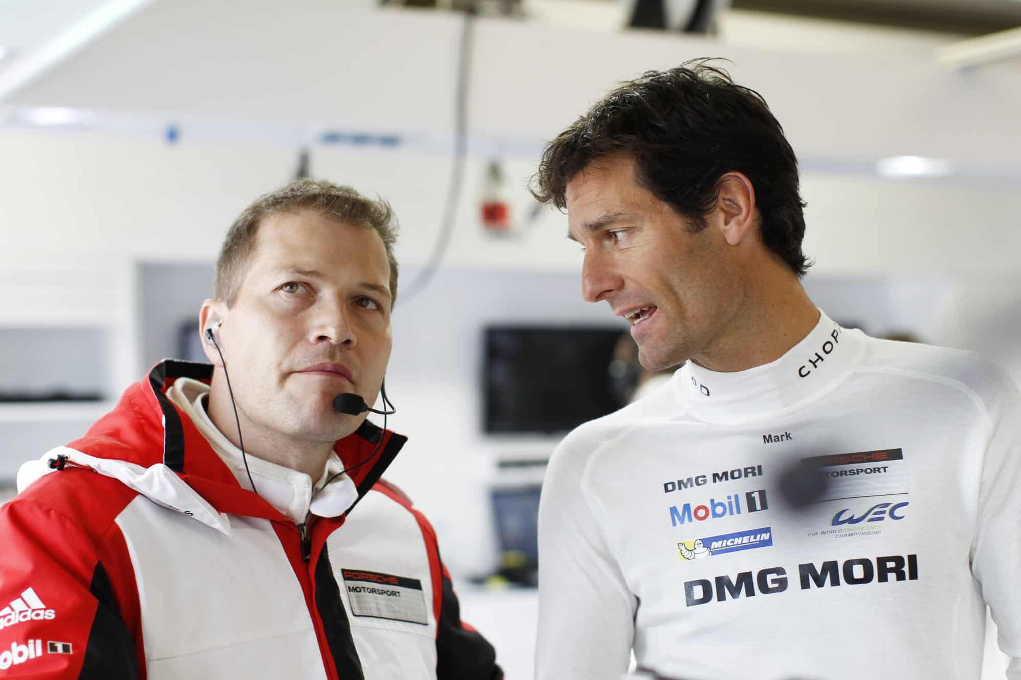 Andreas Seidl Mark Webber Porsche LMP1 WEC