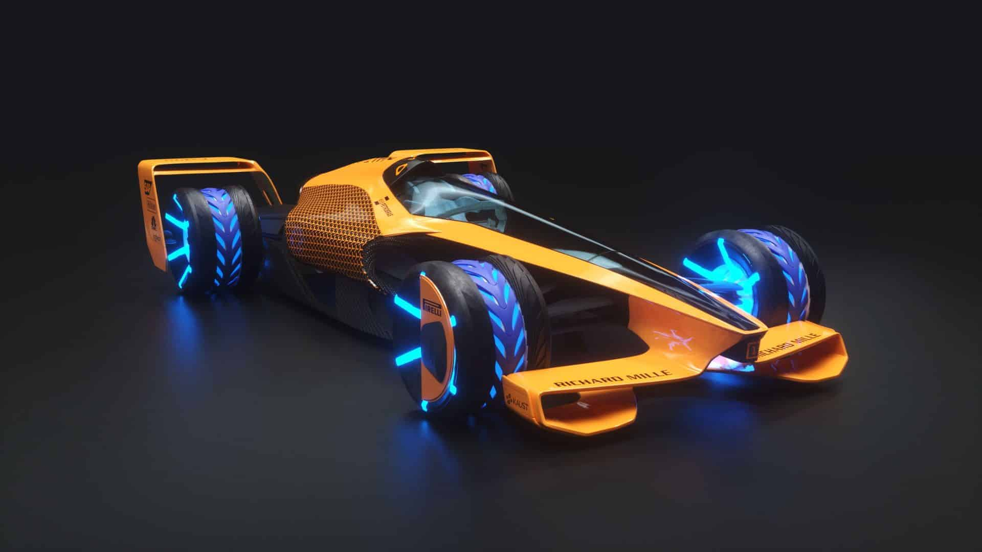 MCLExtreme Future Grand Prix F1 2050 front side Photo McLaren