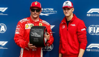 Mick Schumacher Kimi Raikkonen Ferrari F1 2018