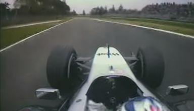 Raikkonen McLaren MP4-17D San Marino GP Imola F1 2003 onboard qualifying lap screenshot