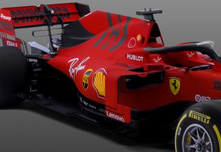 2019 Ferrari SF90 studio photo right angle side zoom Photo Ferrari