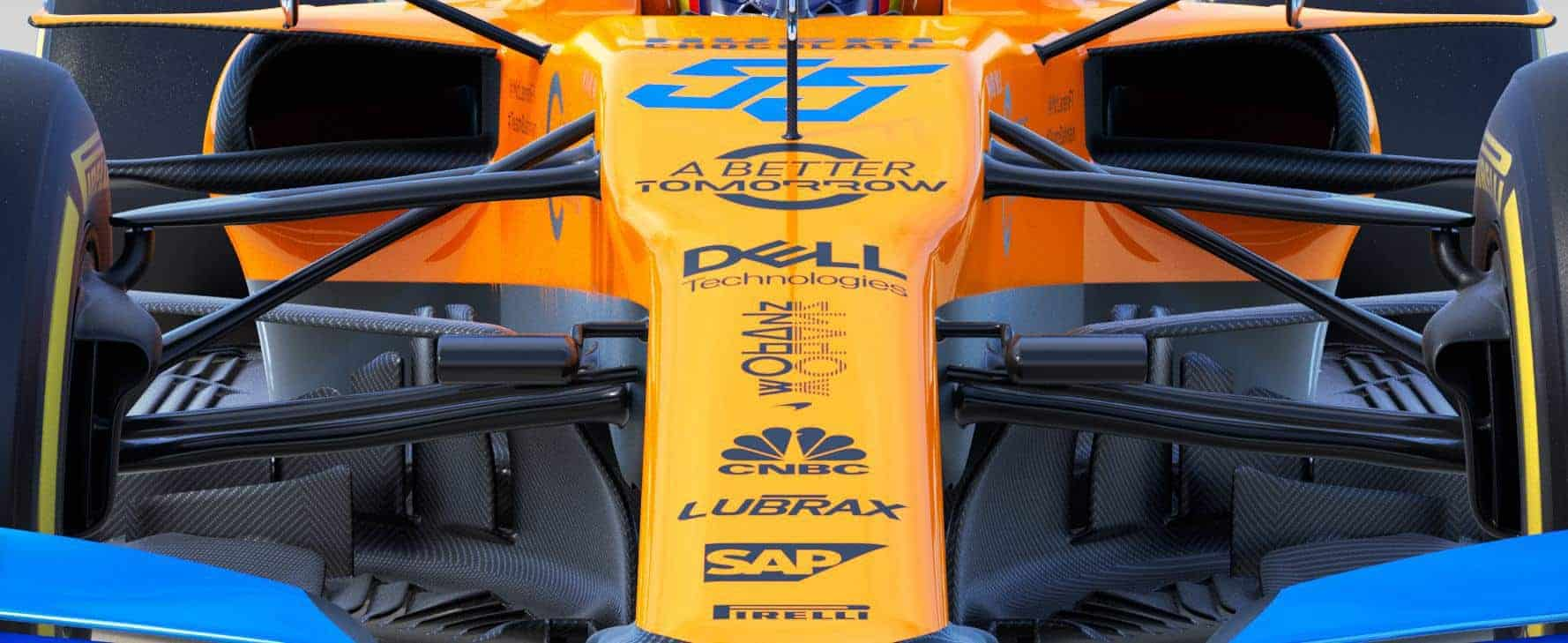2019 McLaren MCL34 front suspension front view Photo McLaren Edited by MAXF1net