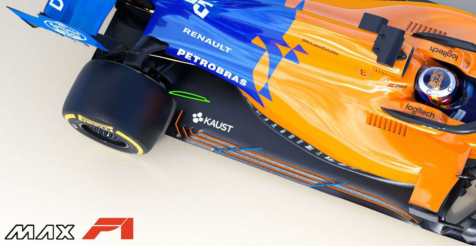 2019 McLaren MCL34 rear end floor details Photo McLaren Edited by MAXF1net