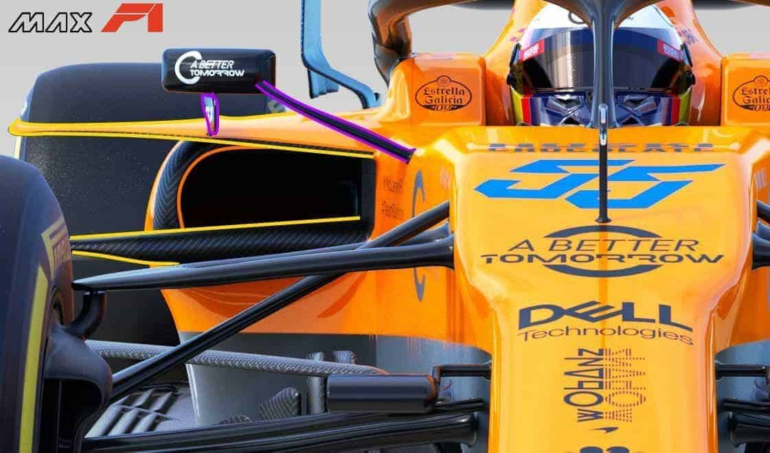 2019 McLaren MCL34 sidepods front Photo McLaren Edited by MAXF1net