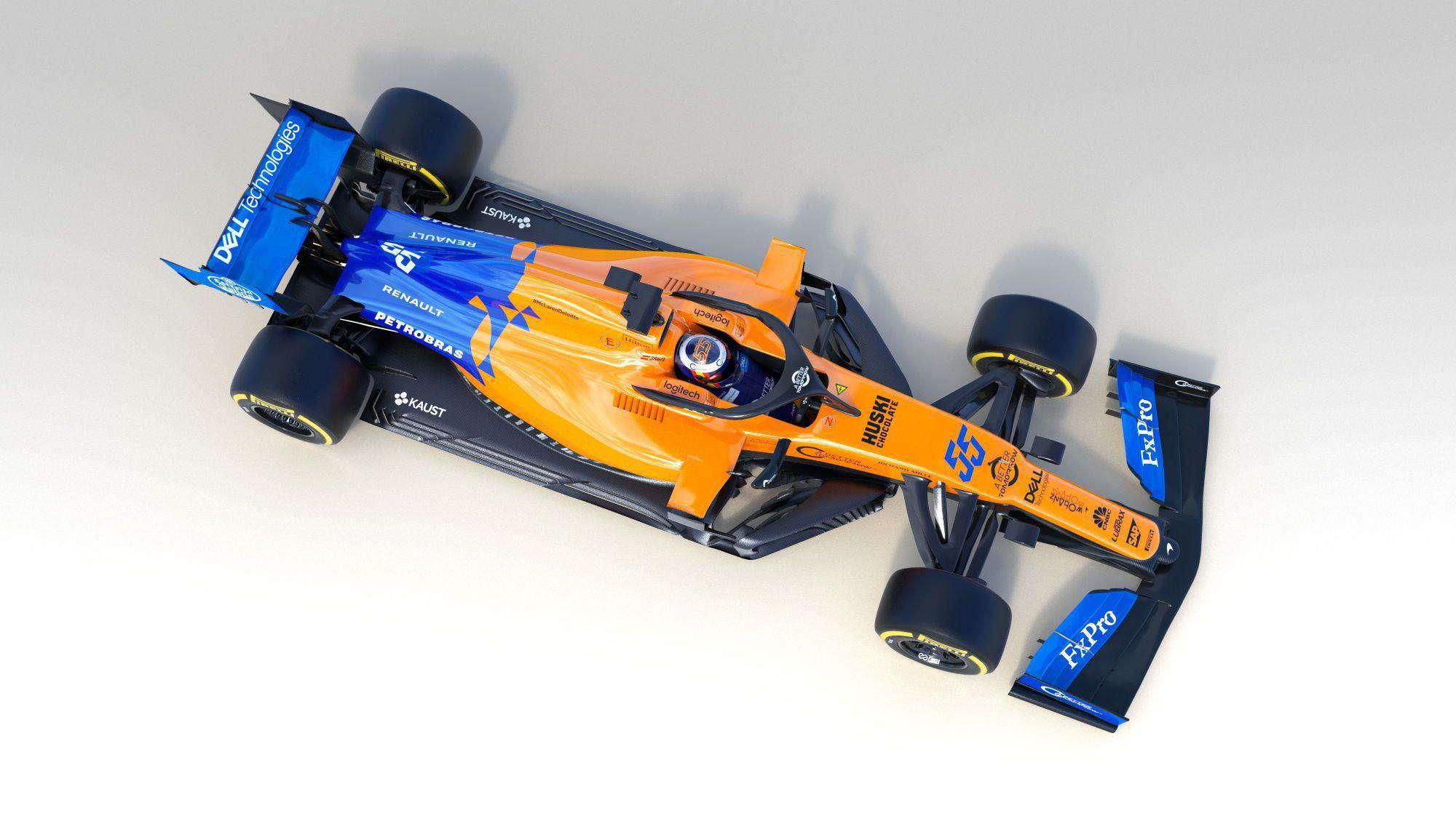 2019 McLaren MCL34 studio photo top Sainz Photo McLaren