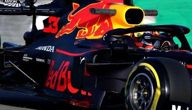 2019 Red Bull RB15 Barcelona test day 1 Verstappen sidepods Honda engine cover F1 Photo Red Bull