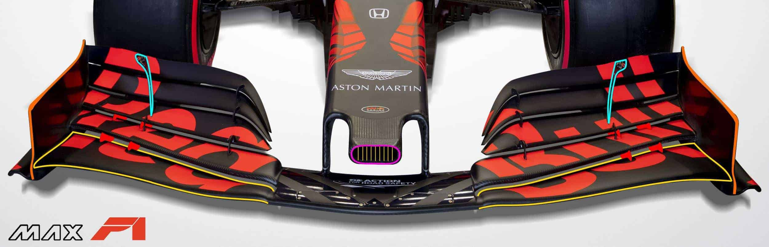 2019 Red Bull RB15 Honda launch pictures nose and front wing Photo Red Bull Edited by MAXF1net