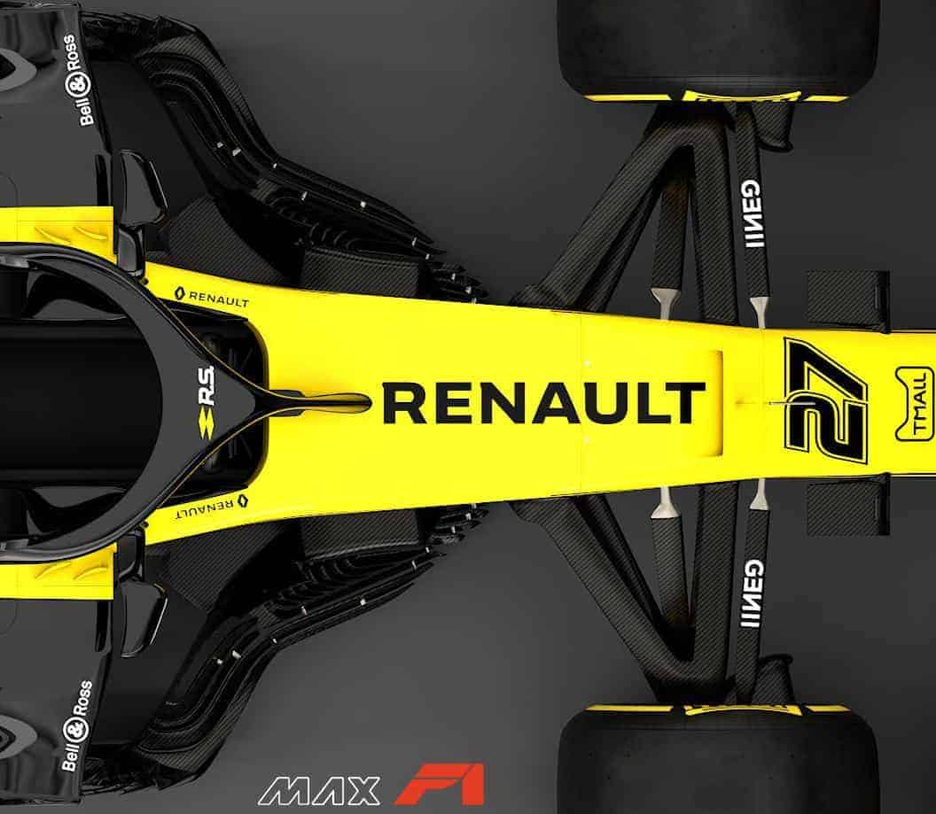 2019 Renault RS19 front suspension and area behind the front wheels top Photo Renault edited by MAXF1net