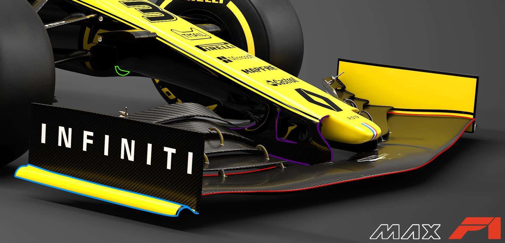 2019 Renault RS19 front wing detail side Photo Renault edited by MAXF1net