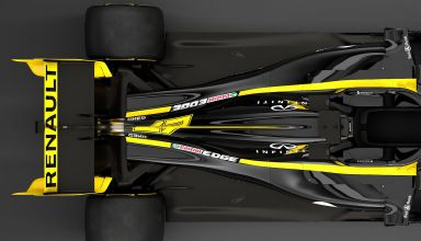 2019 Renault RS19 rear suspension and rear end engine cover coke bottle top Photo Renault edited by MAXF1net