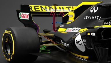 2019 Renault RS19 rear wing rear end engine cover side view Photo Renault edited by MAXF1net