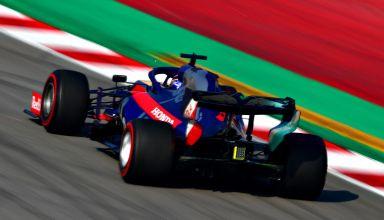 Alexander Albon Toro Rosso Honda STR14 Barcelona Test 1 Day 4 C4 Pirelli tyres Photo Red Bull