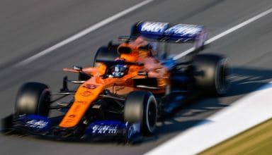 Carlos Sainz McLaren MCL34 Renault F1 2019 Barcelona Test 1 blur C3 Pirelli tyres Photo McLaren