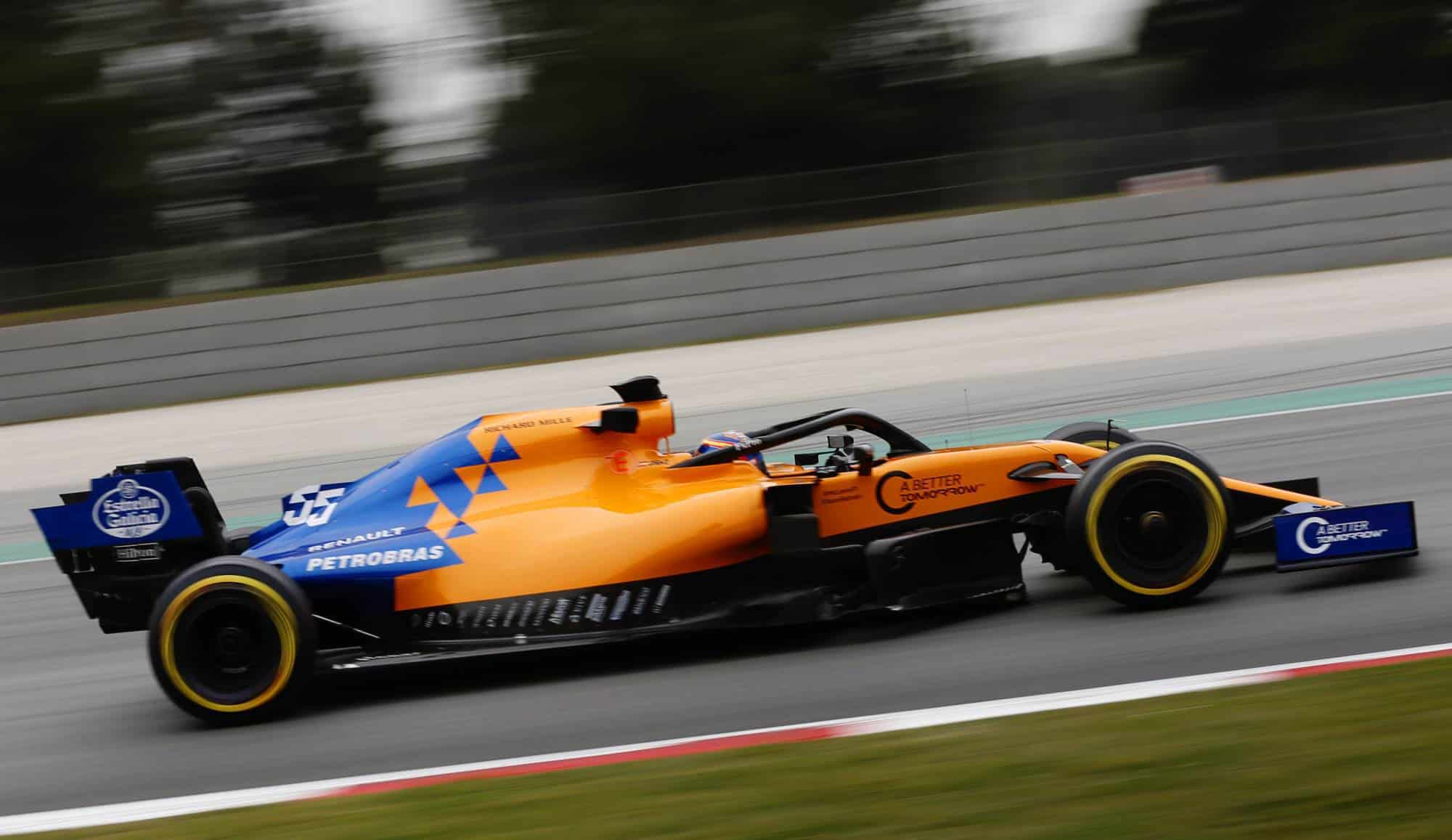 Carlos Sainz McLaren MCL34 Renault F1 2019 Barcelona Test side Photo McLaren