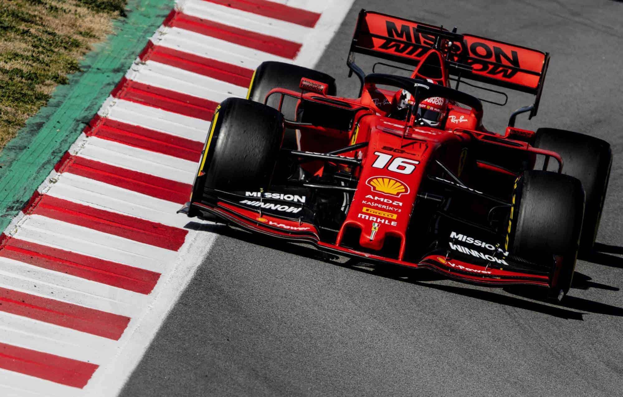 Charles Leclerc Ferrari SF90 Barcelona Test 2 C3 tyres Pirelli Photo Ferrari