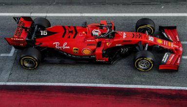 Charles Leclerc Ferrari SF90 Barcelona Test 2 pitlane Photo Ferrari