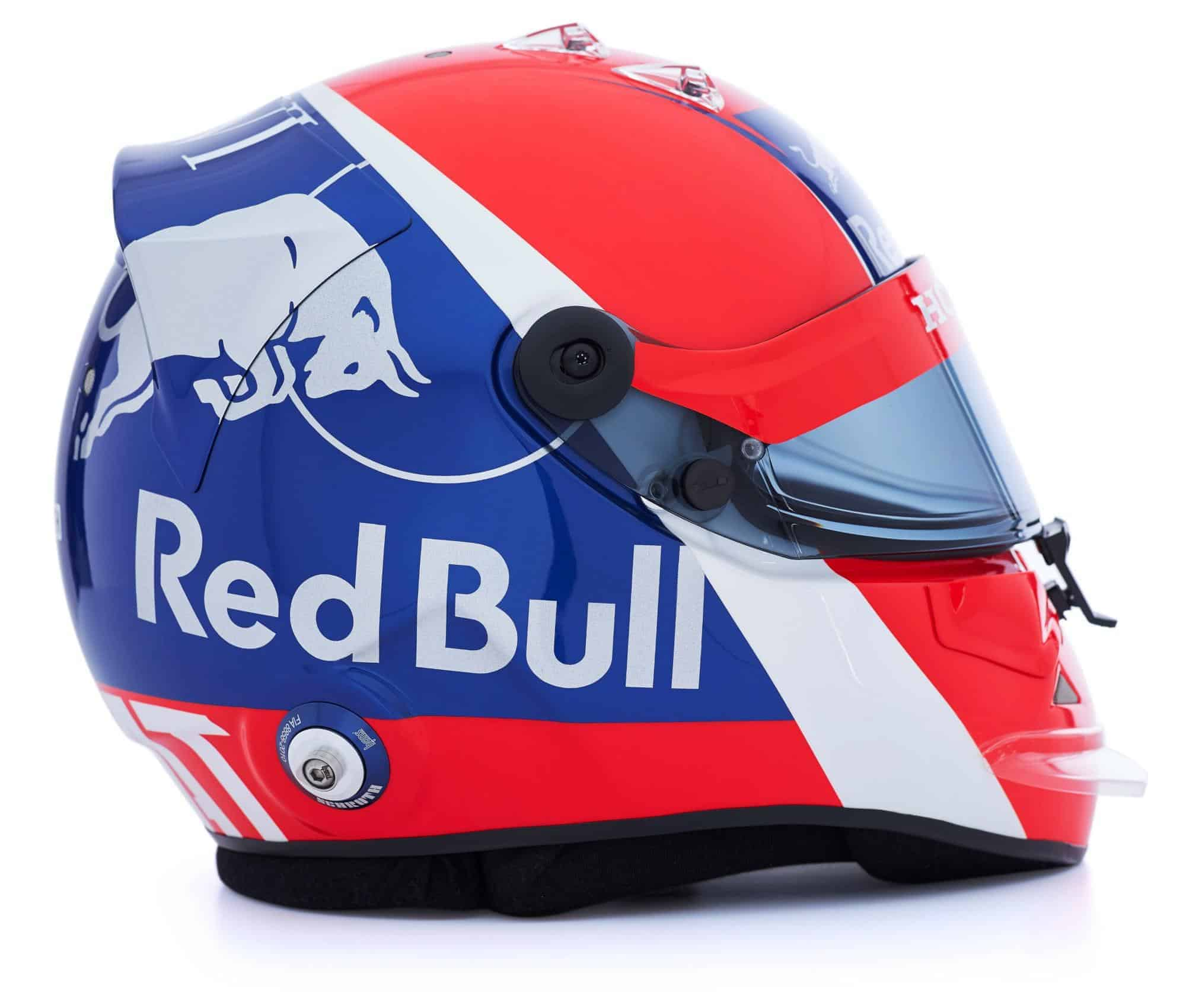 Daniil Kvyat Toro Rosso Honda 2019 F1 helmet side