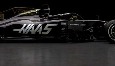 Haas VF19 gold black Rich Energy 2019 F1 livery side Photo Haas