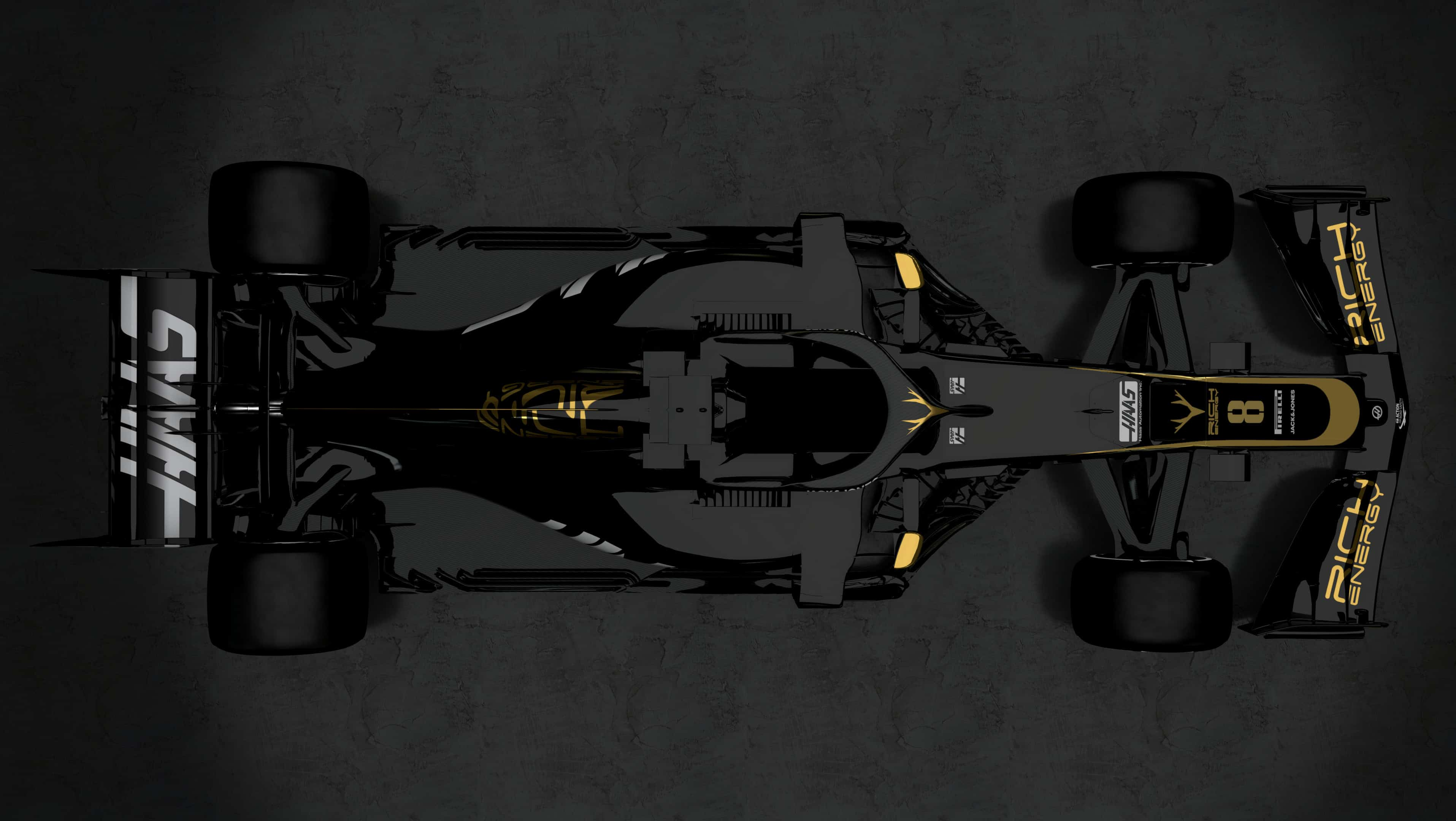 Haas VF19 gold black Rich Energy 2019 F1 livery top Photo Haas
