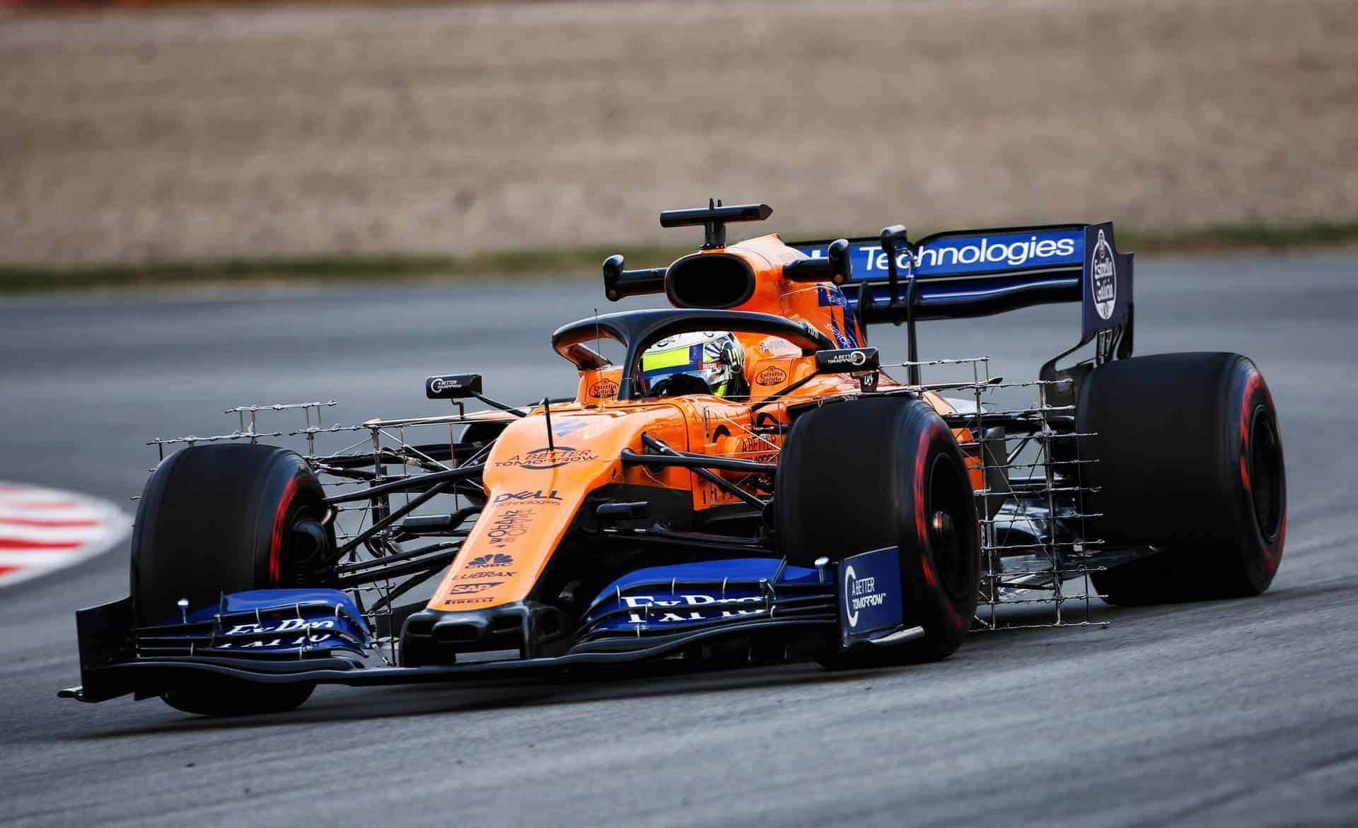 Lando Norris McLaren MCL34 Barcelona test 1 day 2 Photo Sky F1 Ferrari